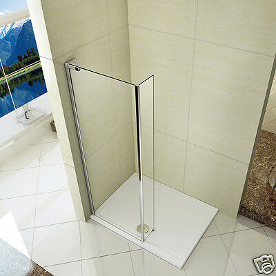 Walk In Shower Enclosure Wet Room Screen Panel Toughened Glass 800/900/1000mm ST