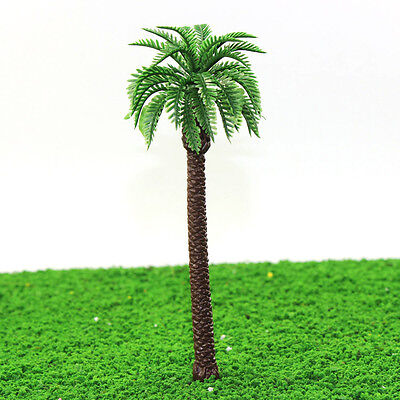YS01 10pcs 7.5 inch Height Model Palm Trees Model Layout Train Scale 1/50 O HO