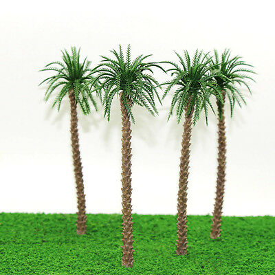 YS02 10pcs 8 inch Model Qil Palm Trees Model Layout Train Scale 1/50 O HO NEW
