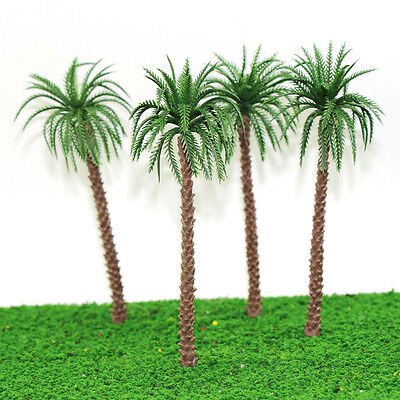 YS02 10pcs 7 inch Model Qil Palm Trees Model Layout Train Scale 1/60 O HO NEW