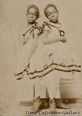 African American Siamese Twins, McCoy Sisters - 1866 - Historic Photo Print