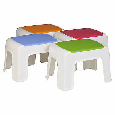 Multi Purpose Sturdy Plastic Step Stool Home Kitchen Stacking Footstool Kids NEW