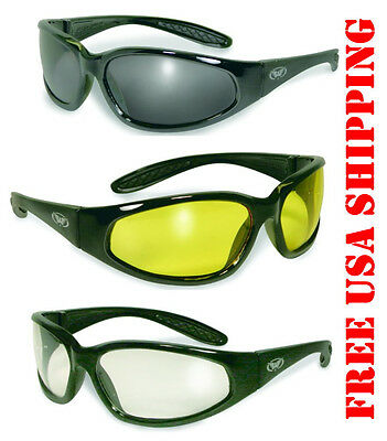 0db1c879aa54 Global Vision Motorcycle Hercules Riding Glasses Sunglasses Assorted Lens