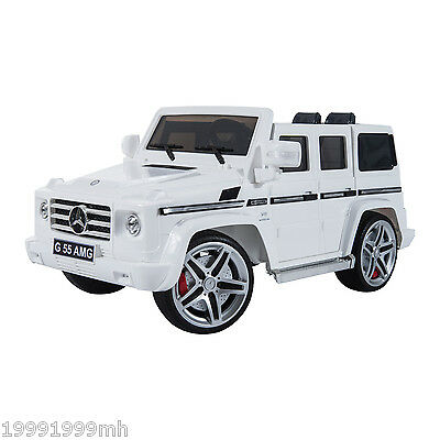 Aosom Electric Kids Ride On Toy Car w/Remote Control 12V MP3 Outlet Benz White