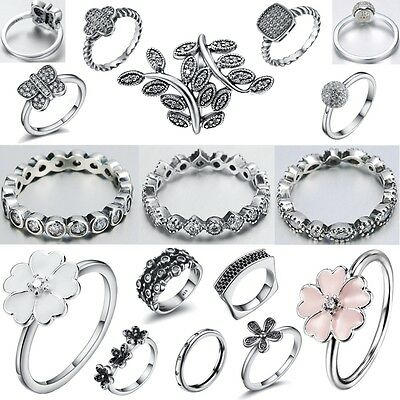 Size 6-9 Fashion Fine 925 Sterling Silver Filled Engagement Wedding Ring Jewelry