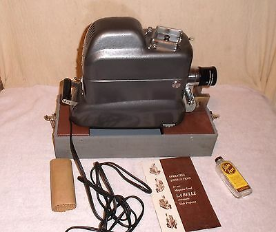 Labelle 500 Automatic 35mm 2x2 Slide Projector Machine Age Airstream