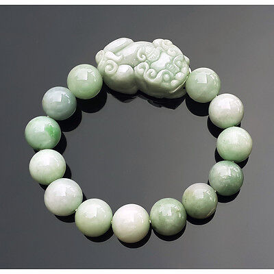 Feng Shui Natural Jade Pi Yao Bracelet For Protection and Good Fortune