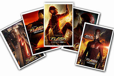 The Flash - Set Of 5 - A4 Poster Prints # 1