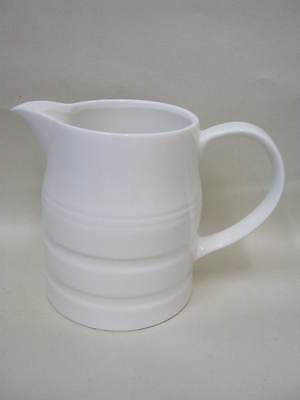 New Wm Bartleet White Porcelain Churn Milk Jug 2 Pint T37