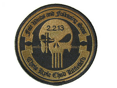 Chris Kyle Craft Navy Seal American Sniper Punisher Memorial Bronze Patch New