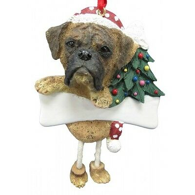 Boxer ~ Brindle  Uncropped   ~ Dangling Ornament #71