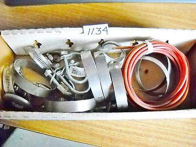 "5 u-bolts 1/4"" x 1 1/8"" x 2"" clamps sm med large small engine lawn garden hose w"