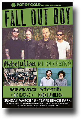 Fall out Boy Flyer - Concert Poster w/ Milky Chance & Rebelution