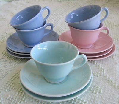 Taylor Smith & Taylor LuRay Pastels 5 Cups and 8 Saucers Lot
