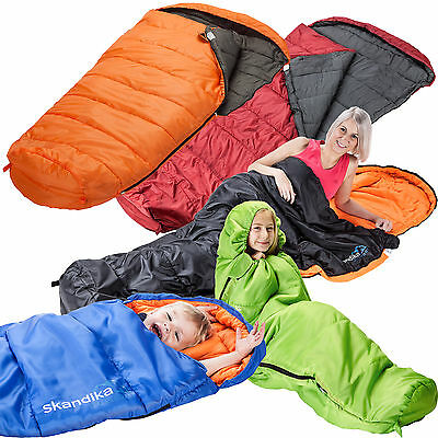 Skandika Vegas XL XTRA-Wide Sleeping Bag Adult Kids Left Right Zip Colours New