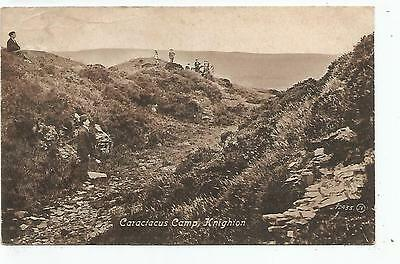 wales welsh postcard caractacus roman camp knighton