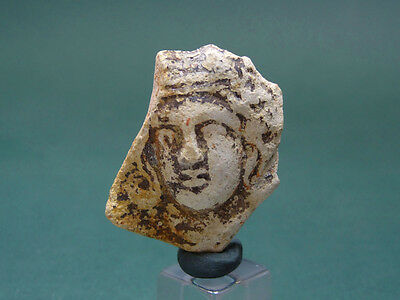 ANCIENT FACE OF A YOUTH ROUNDEL TERRACOTTA GREEK 4Tth-2nd CENTURY BC