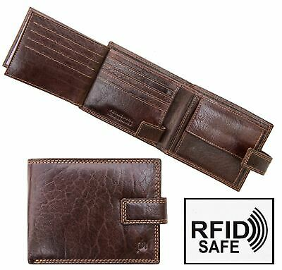 479da60720023 RFID Blocking Mens Luxury Brown Leather Wallet by Prime Hide RFID Blocking