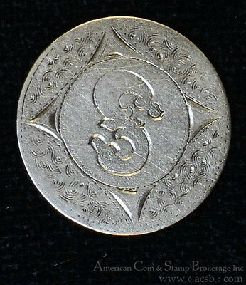 1853 Love Token Engraved S W/ Design silver Liberty Seated Dime 10c ten cents.