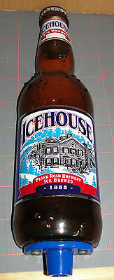 "Icehouse Ice Brewed Beer 10"" Bottle Shaped Tap Handle Plank Road Berwery 1855"