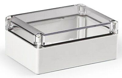 Electrical Enclosure NEMA 4X Polycarbonate 7x5x3 Waterproof Box Clear Cover