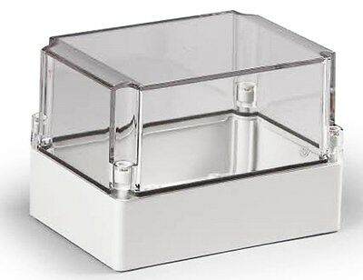 Electrical Enclosure NEMA 4X Polycarbonate 7x5x5 Waterproof Box Clear Cover