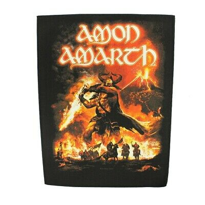 XLG Amon Amarth Surtur Rising Death Metal Music Band Woven Applique Patch