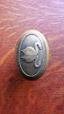 Antique Cast Brass Figural Oval Swan Doorknob Door Knob c1900 - Hotel Statler