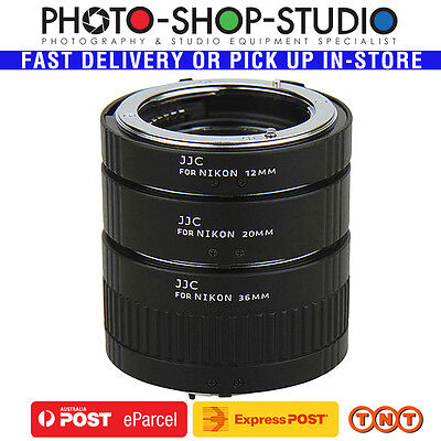 JJC 3 Ring Auto-Focus AF Macro Extension Tube for Nikon F-Mount Lenses #AET-NS