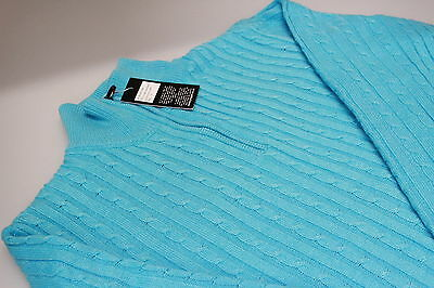 Ladies JRB Golf Lined Cable Wind/Water Resistant Jumper S,M,L, XL Grey/Turquoise