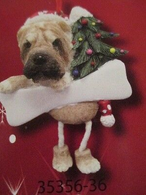 Shar Pei ~ Dangling Dog Ornament #36