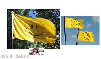 3x5 HAPPY FACE SMILEY SMILE Heavy Duty In/outdoor SuperPoly FLAG BANNER*USA MADE
