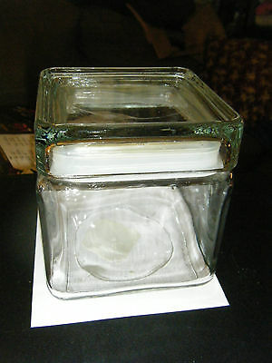Anchor Hocking Square Canister Apothecary Jar