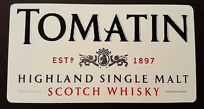 Tomatin scotch whisky sticker.