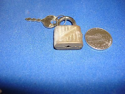 Vintage Unnamed Hong Kong Used Condition Padlock With Key  from 60's