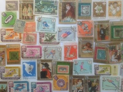 100 Different Aden and South Arabian Peninsular Stamp Collection