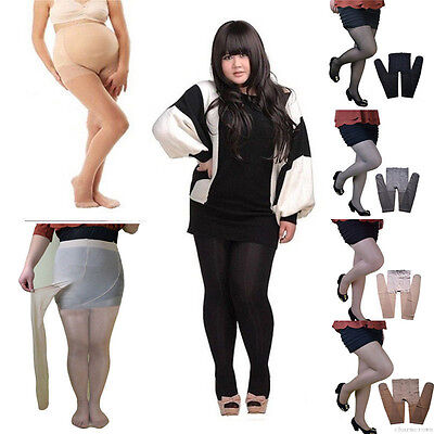 HOT Sexy Women Plus Size Pregnant Sheer Elastic Pantyhose Stockings Tights Socks
