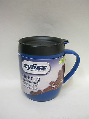New DKB Zyliss Smart Cafe Hot Mug Cup Coffee Cafetiere Blue