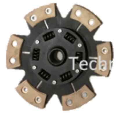 6 Paddle Heavy Duty Cerametallic Clutch Drive Plate For Audi S3