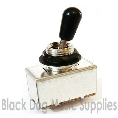 Guitar toggle selector switch pickup rhythm treble black nut and washer
