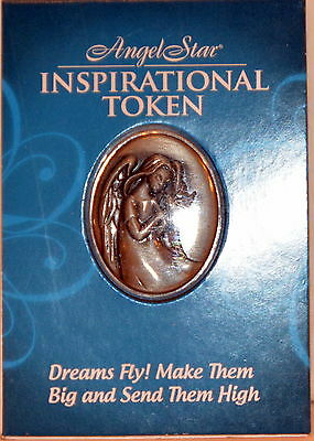 Dreams Fly! Make Them Big Send High Angel Pocket Token Pewter Inspiring NIP