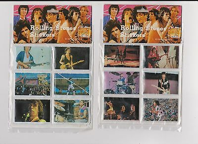 Lot of 2 1983 Unopened Packs of Rolling Stones Puffy Stickers W/Mick Jagger