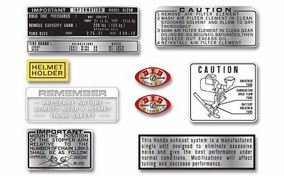 1972 Honda XL250 K0 - warning & service label set