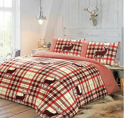 Christmas Duvet Cover with Pillow Case Quilt Cover Bedding Set Cristine All Size