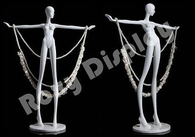 Glossy White Mini Mannequin for Jewelry Display #JW-EMMA1
