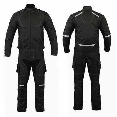 Men Motorcycle Motorbike Textile Jacket Trouser Suit Waterproof CE Armoured
