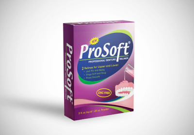 Soft Denture Reline Kit! Durable Liner!  Repair Loose Dentures! ProSoft Reliner!