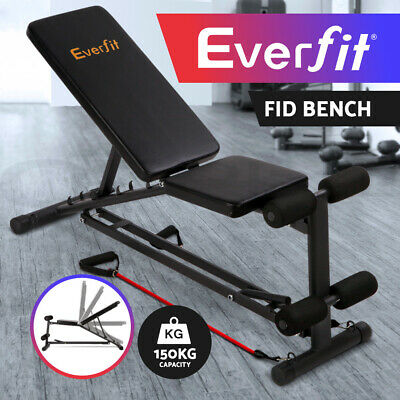 Adjustable Weight FID Bench Flat Incline Decline Press Gym Ab Exercise Fitness