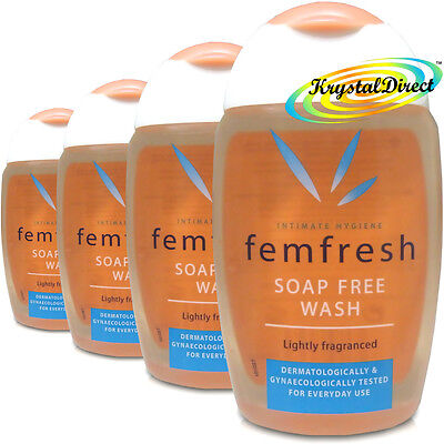 4x Femfresh Daily Intimate Hygiene Wash Soap Free 150ml Lightly Fragranced