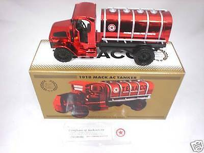 Texaco 1918 Mack AC Tanker Special Red Chrome Edition New in Box
